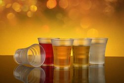 Unbreakable Transparent 65ml Plastic Drinking Glass