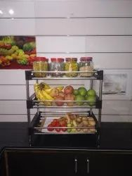 Blue Vegetable And Fruit Storage Rack, For Home