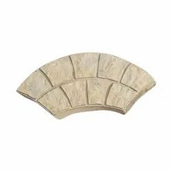 Cement Yellow Rubber Mould Paver Block
