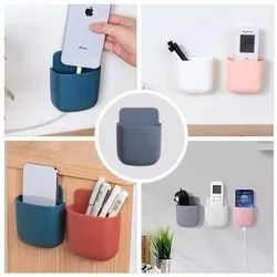 Wall Mounted Storage Box -Plastic Remote And Mobile Stand