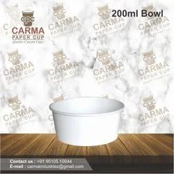 White Round Paper Bowl, For Event and Party Supplies, One Side