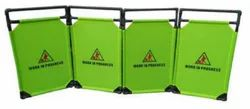 Green PVC 4 Pc Portable Elevator Barrier, For Road Safety, 3.4 Kg