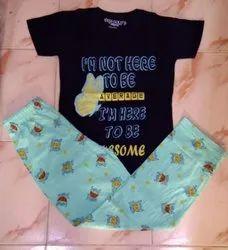 Multicolor Girl Kids Nightwear