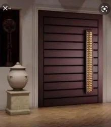 Solid Wooden Main Door, For Home