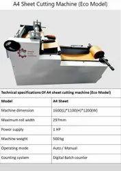 A4 Sheet Cutting Machine (Economy Model)
