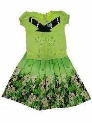 Georgette Green Girl Designer Midi Dress, Size: Medium