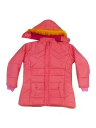 Hooded Ladies Pink Winter Jackets, Size: Small