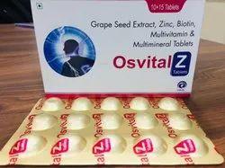 Grape Seed Extract, Zine, Biotin, Multivitamin & Multimineral Tab