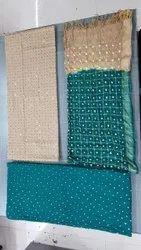 Cotton Designer Mirror Work Dress