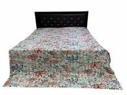 Cotton Bird Design Kantha Bedcover