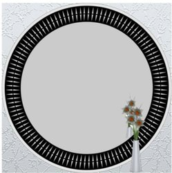 Glass Color Mirror Round, Thickness: 5 Mm, Size: 18x18 Inch