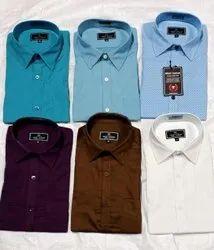 Cotton Collar Neck Men Formal Wear Plain Shirt