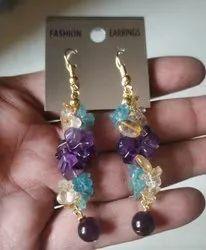 Ladies Stone Earrings