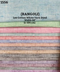 Rangoli Lee Cotton White Yarn Dyed Shirting Fabric
