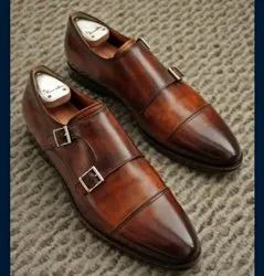 Brown Formal Monk Shoes