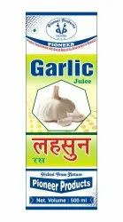 Pioneer 200 Ml Garlic Juice, Packaging Type: Bottle
