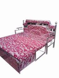 Pink SS Sofa Cum Bed