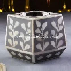 Deluxe Bone Inlay Candle Holder