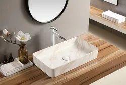 Ceramic Table Top Wash Basin, For Bathroom
