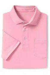 Winter Cotton Baby Pink College Sport T-shirt, For School, Size: S,M