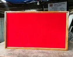 Teak Wood Frame Notice Pin Board