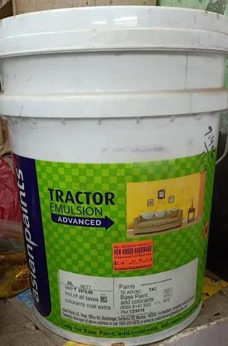 Water Based Paint Soft Sheen Tractor Emulsion Advanced For Interior Walls Packaging Type Bucket Rs 120 Litre Id 23135820862