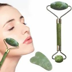 ORILEY OR-JTZM-5 Natural Jade Double Sided Face Roller With Stone)