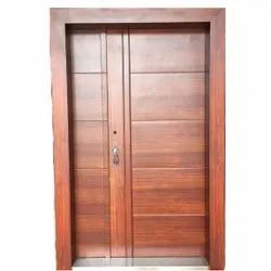 Stainless Steel Coated PTR 20 Brown SS Door, For Home, Thickness: 50mm