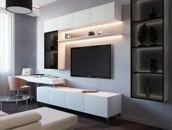 Action Tesa Wall Mounted Wooden Tv Cabinet, For Home