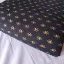 "Rr Fabric 44-45"" Ladies Printed Rayon Black Dress Material, For Garments"