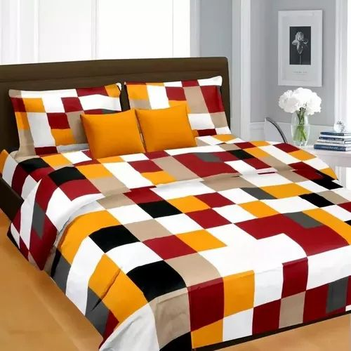 Checkered Cotton Bed Sheet, For Home, Size: Standard, Rs 250 /piece   ID:  23139379597