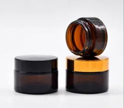 30gms, 50gms and 100gms Amber Glass Cosmetics Jar