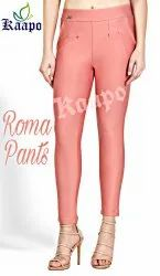 8 Colors Plain Roma Jeggings, Size: Sizes Available From 30 To 36