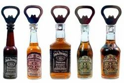 Brown Clear Chrome Finish Bottle Opener and Fridge Magnet (Bottle Shaped), Packaging Type: Poly Bag