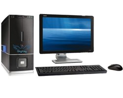 i3 Assembled Computer Desktops, Screen Size: 18.5'', 7
