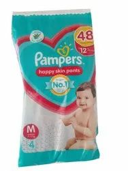 Disposable Pampers Happy Skin Paints, Size: Medium, Age Group: Upto 12 Months
