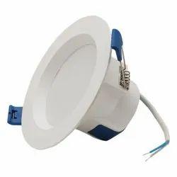 Round Cool White 9 Watt LED Downlight, For Indoor, IP44