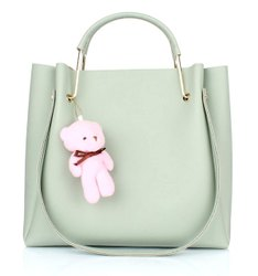 Luzoso India Ladies Plain Casual Leather Handbags, Size: 29x15x10 Cm