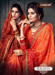 Sangam Prints Sukanya Chiffon Printed Saree Catalog