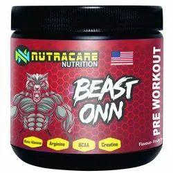 Beast Onn Pre Workout Suppliement, 300 Gms, Prescription