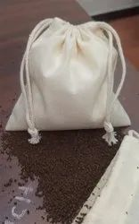 Natural Color Super Soft Organic Muslin Pouch