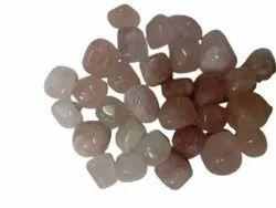 Pink Tumbled Rose Quartz Pebbles, Dimensions: 18 - 30 Mm
