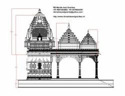 White Carved Running Project in Ambala, Polished, Religions Area