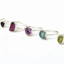 Raw Birthstone Rough Ring Jewelry