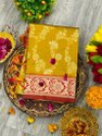 Present Heavy Silk Saree With Beautiful Design Look