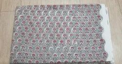 Vinayak Handicraft Cotton Hand Block Flower Print Natural Color Fabric