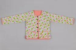 Cotton Quilted Summer Flamingos  Reversible Hand Block Print Kids Jacket