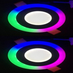 6w Coloured 3+3 LED Panel Light, For Indoor
