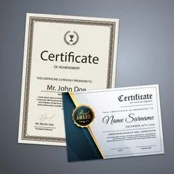 Art Paper Certificates Printing Services, in Mumbai, Dimension / Size: A4 Size 12x18,13x19 13x40 Inch
