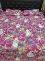 Monkey Print Cotton Quilted Bedcover With Two Pillow